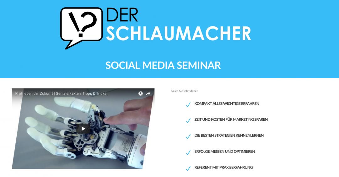 Der Schlaumcher Social Media Seminar
